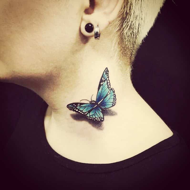 3D Blue Butterfly Tattoos anahita.shams_