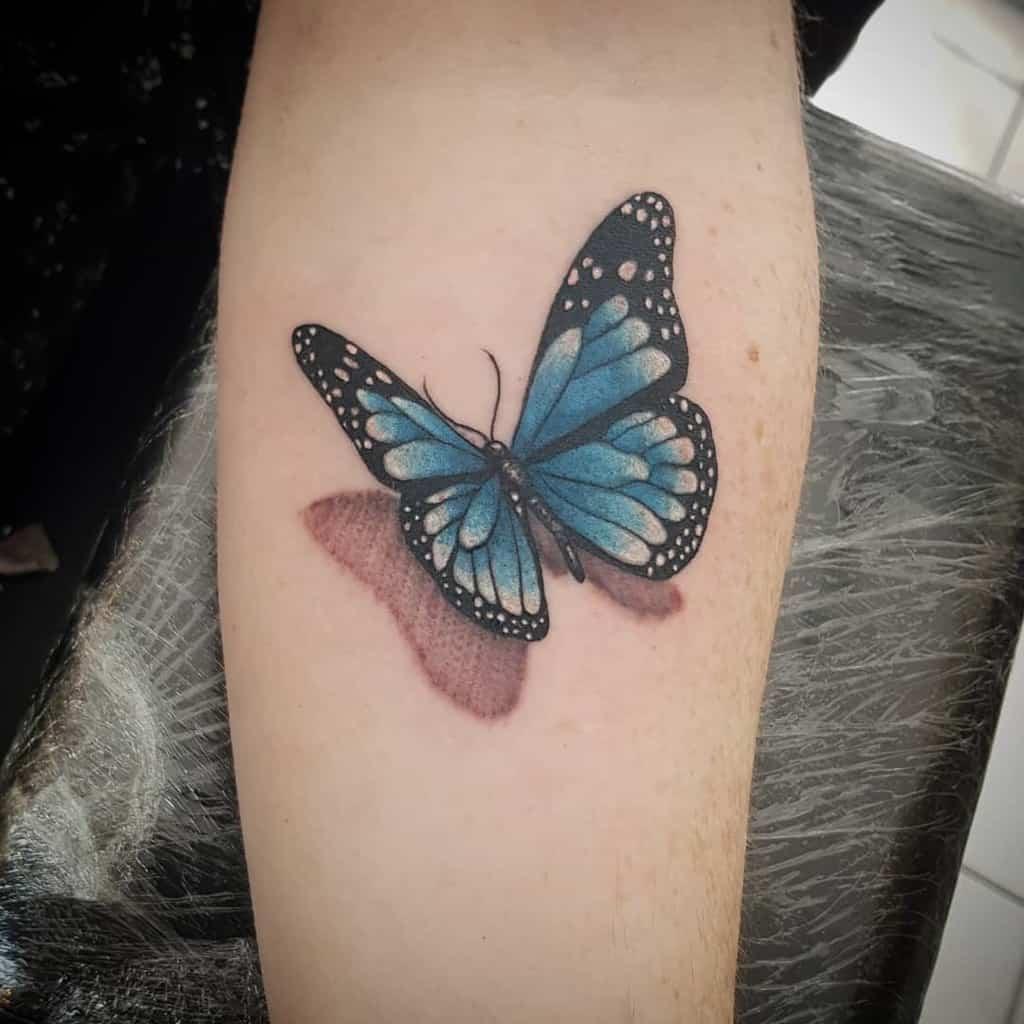 3D Blue Butterfly Tattoos kittycrosstown