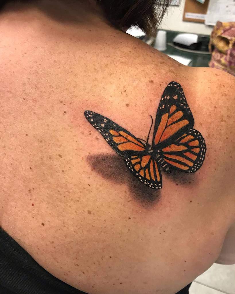 3D Monarch Butterfly Tattoo nedtattoos