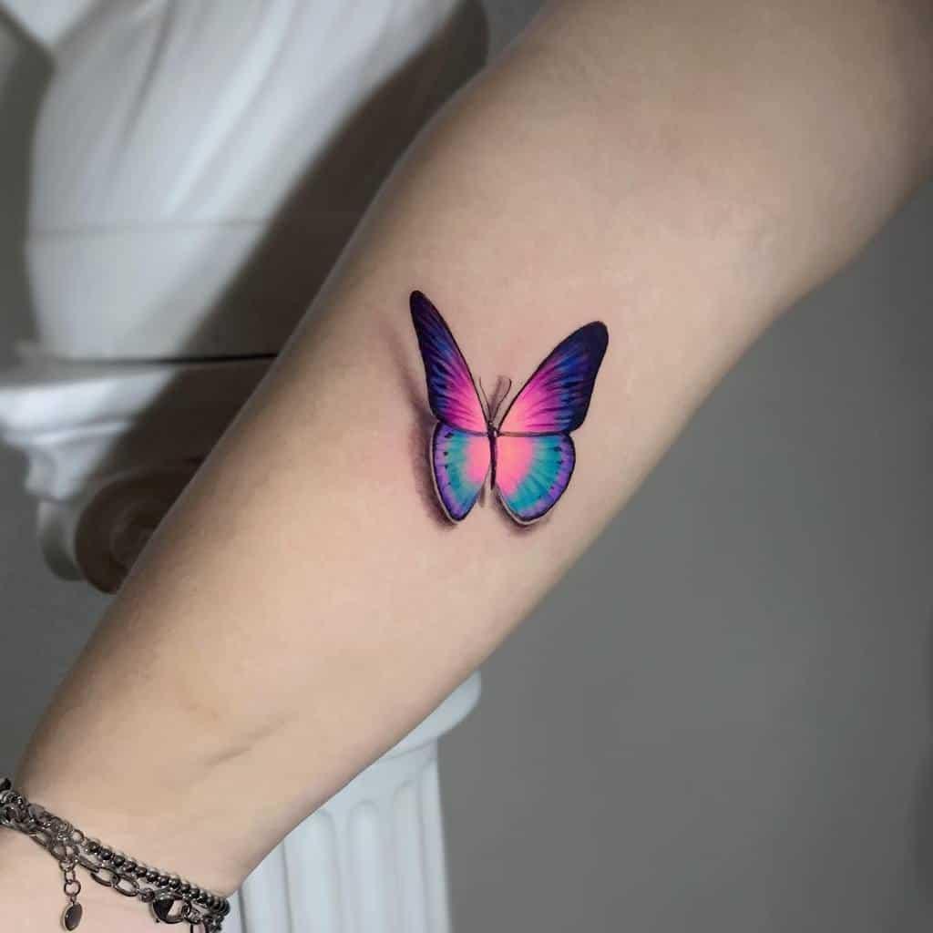 3D Purple Butterfly Tattoo malavida.tattoo