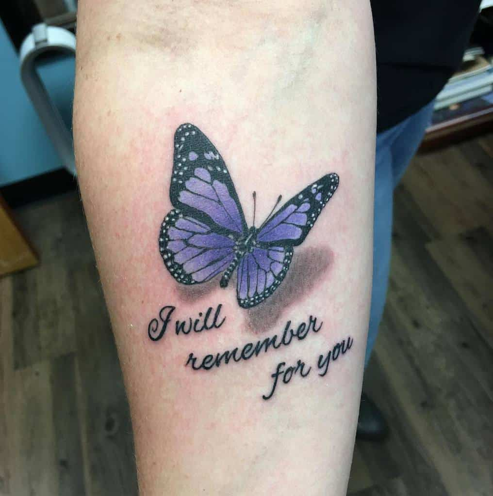 3D Purple Butterfly Tattoo mikeomundson123