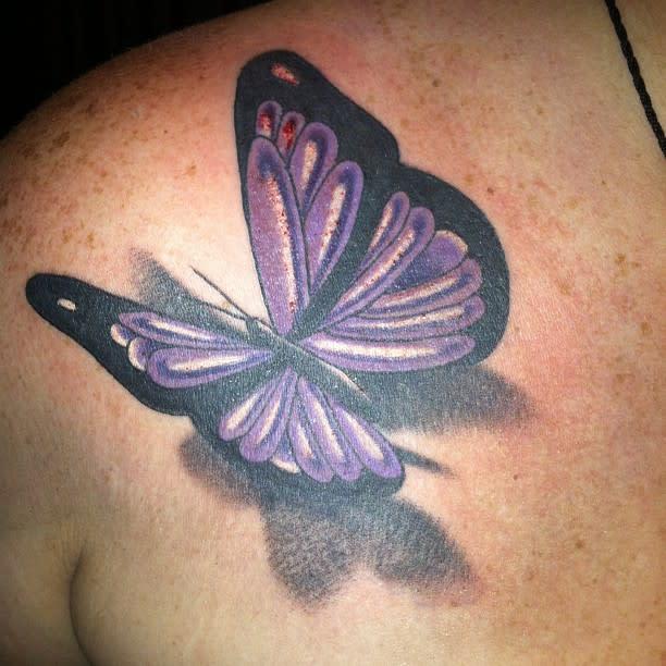 3D Purple Butterfly Tattoo tgiordonellis