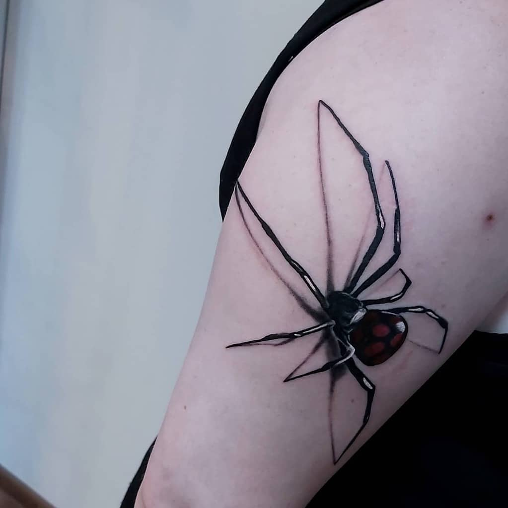 3D Spider Arm Tattoo dzej.tatuaze