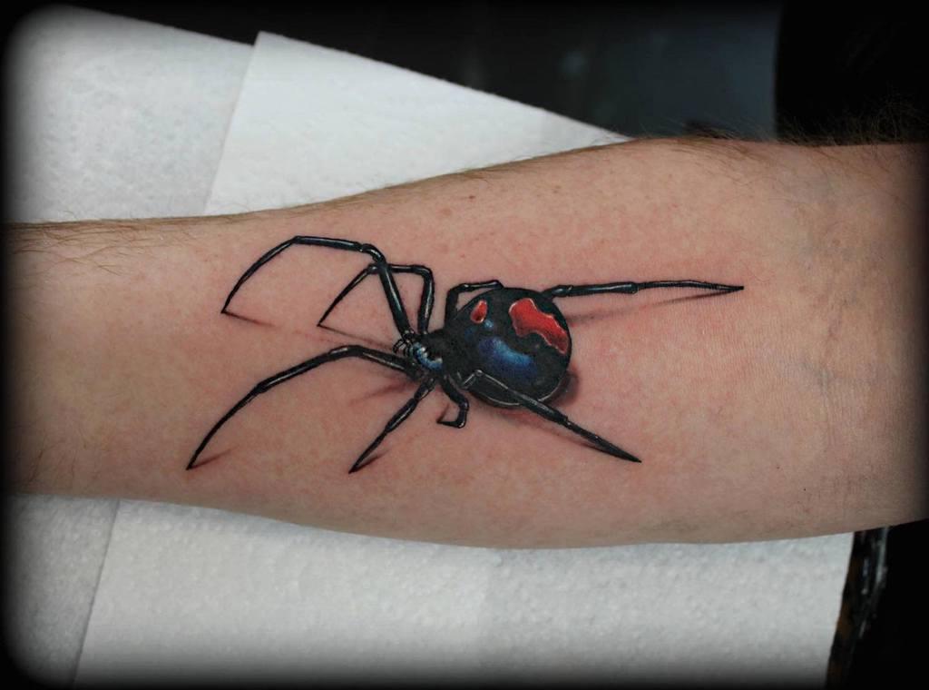 3D Spider Arm Tattoo rubyloustattoostudio