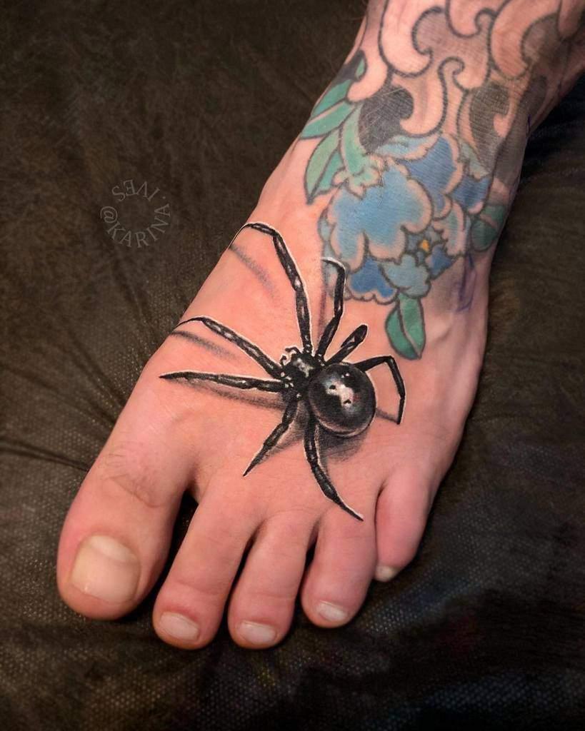 3D Spider Foot Tattoo karina.ives