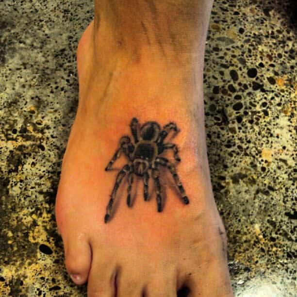 3D Spider Foot Tattoo ramblingman_23