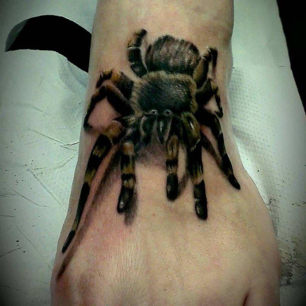 3D Spider Foot Tattoo soul_creation_tattoo