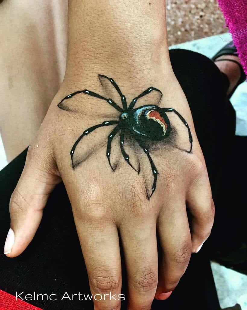 3D Spider Hand Tattoo kelmcilwain