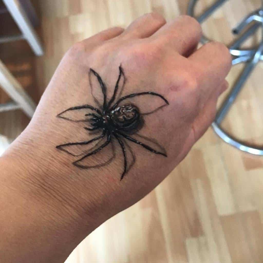 3D Spider Hand Tattoo teresam123