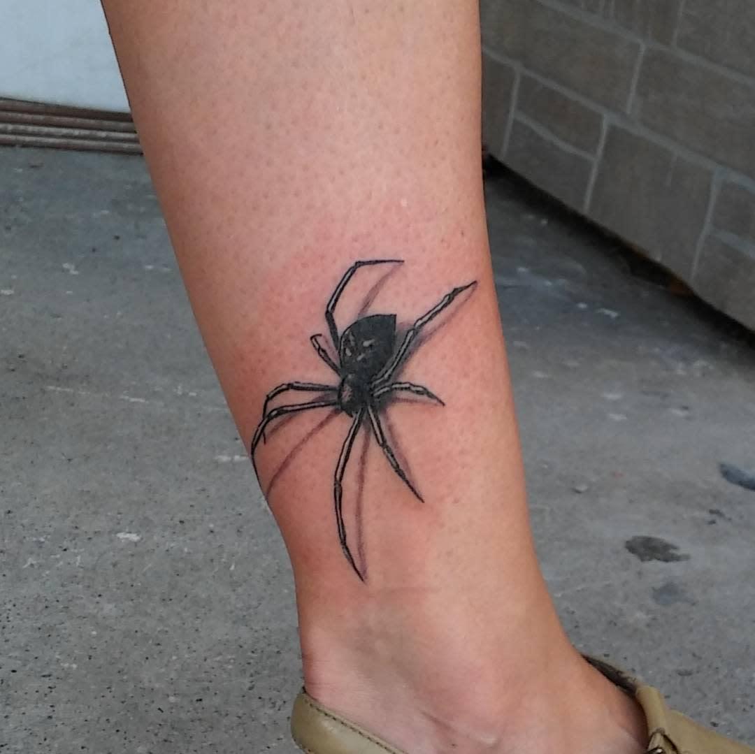 3D Spider Leg Tattoo rogoulet