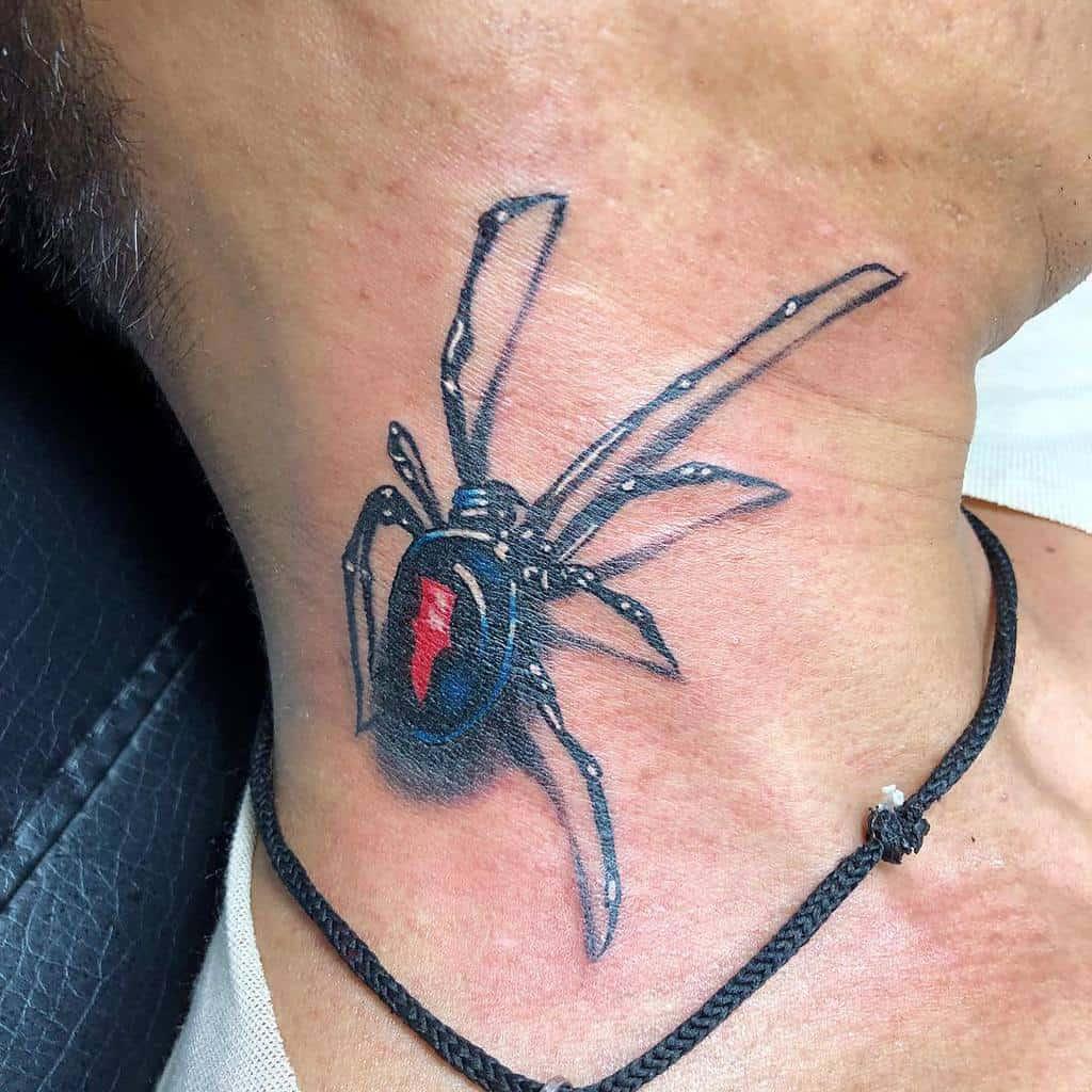 3D Spider Neck Tattoo alanchiam83