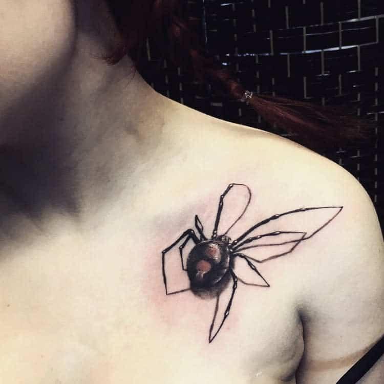3D Spider Shoulder Tattoo danielle_g_tattoo