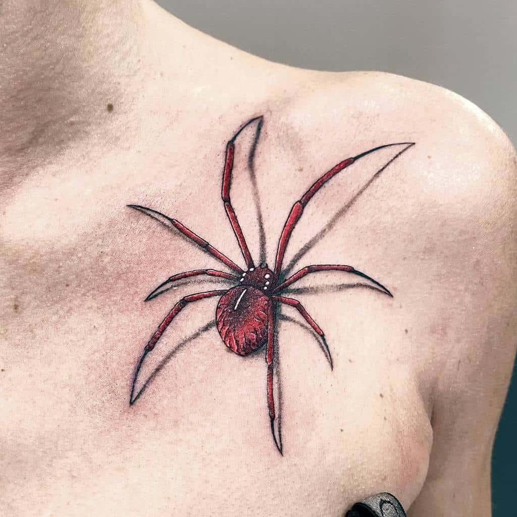 3D Spider Shoulder Tattoo j0rdan.tattoo