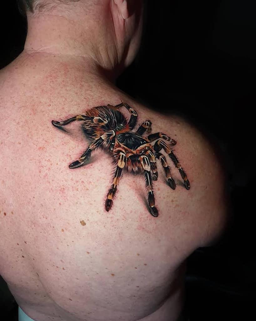 3D Tarantula Spider Tattoo dean.gunther