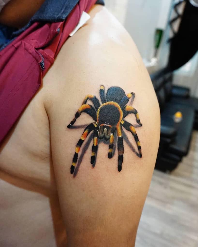 3D Tarantula Spider Tattoo vandrago_tattoo_medan