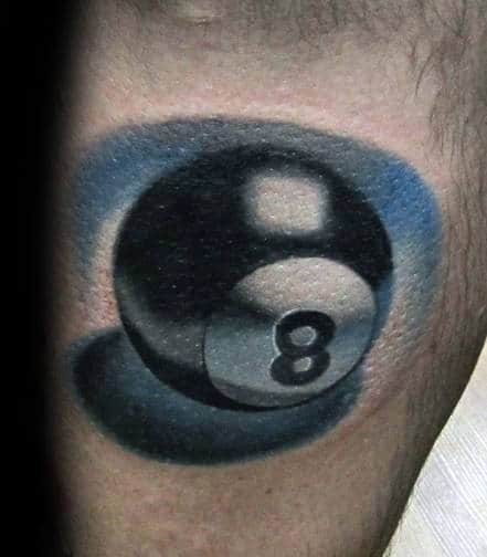 top 40 best 8 ball tattoo designs for men billiards ink ideas. Black Bedroom Furniture Sets. Home Design Ideas