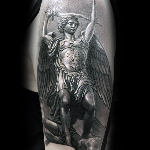 3d Angel Realistic Epic Tattoo Ideas On Guys