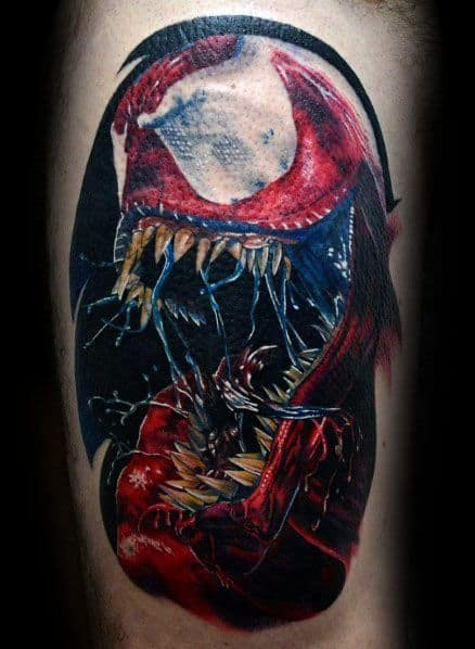 3d Arm Carnage Male Tattoos