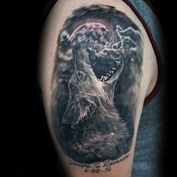 3d Arm Distinctive Male Coyote Tattoo Designs