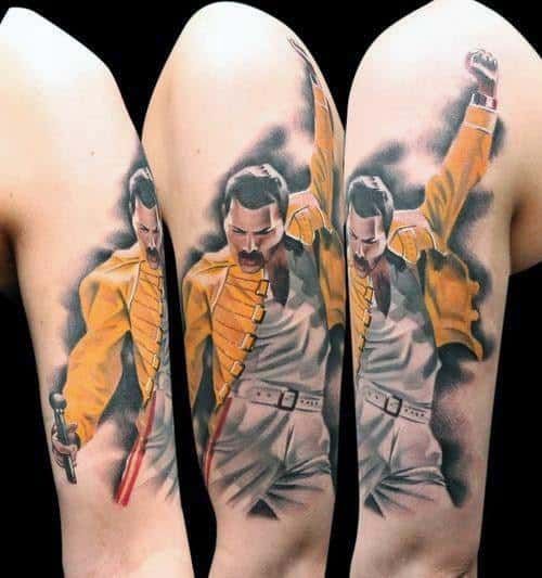 40 Freddie Mercury Tattoo Designs For Men Queen Ink Ideas