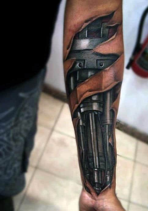 Top 47 Mechanical Tattoo Ideas 2020 Inspiration Guide