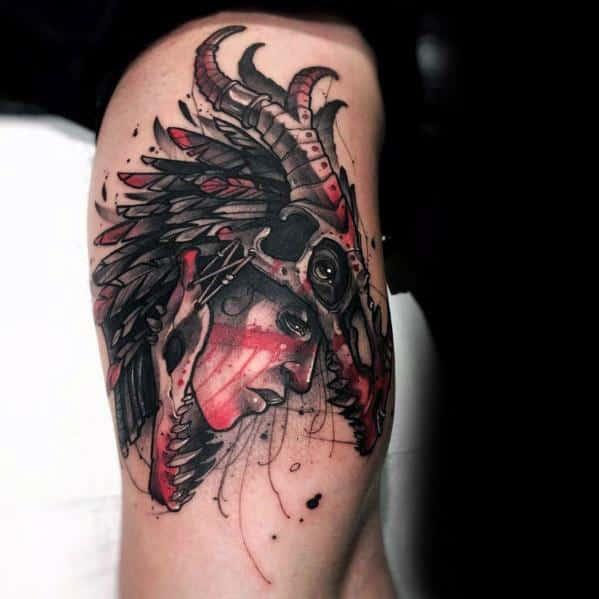 3d-artistic-male-dragon-skull-tattoo-ideas