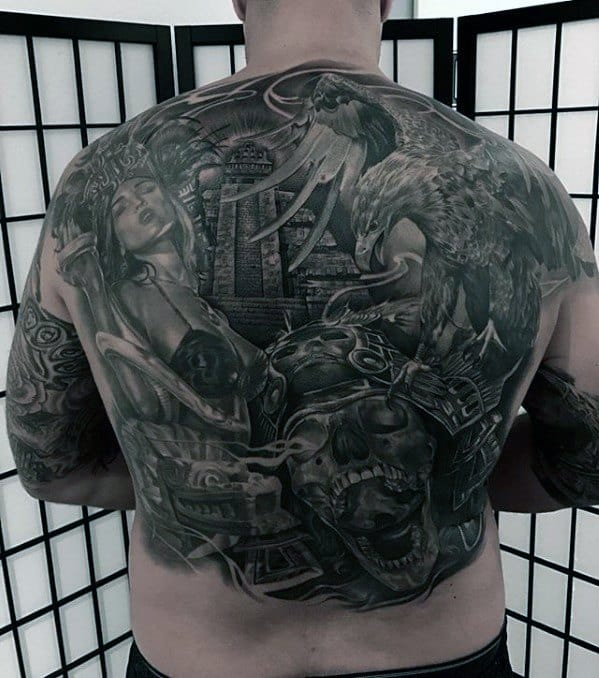 3d Awesome Back Male Tattoos