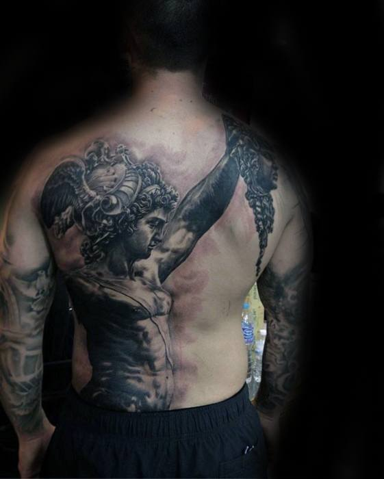 60 Roman Statue Tattoo Designs For Men