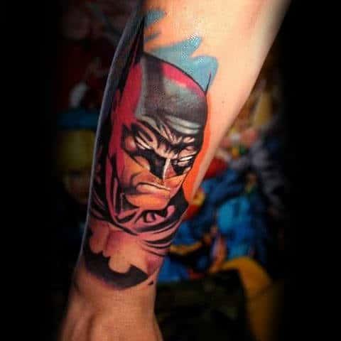 3d Batman Tattoo On Man