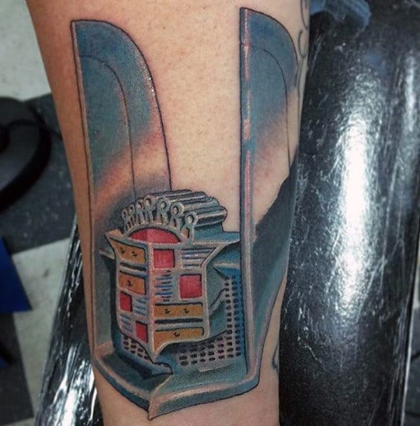 50 Cadillac Tattoos For Men Automotive Ink Design Ideas