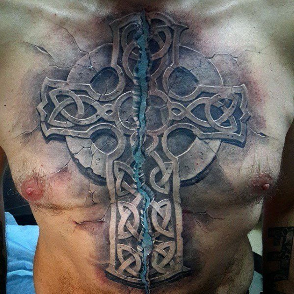 61940eef9 50 Chest Cover Up Tattoos For Men - Upper Body Design Ideas