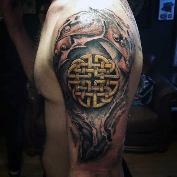 Upper Arm Tattoo For Guys: Top 100 Most Authentic Celtic Knot Tattoos [2020
