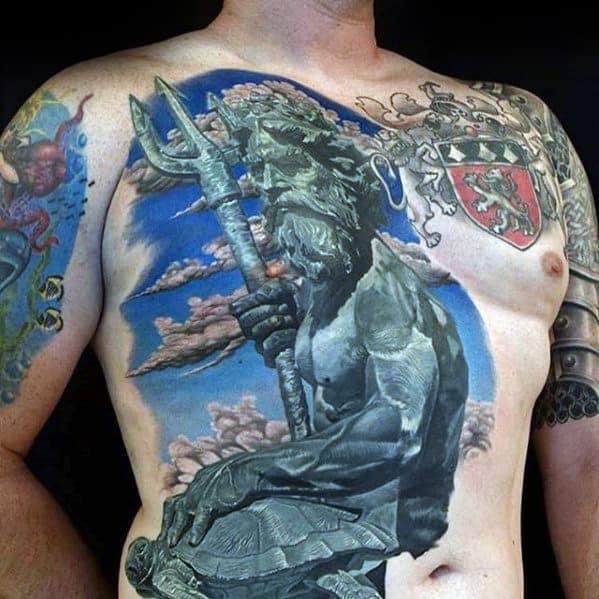 40 Trident Tattoo Designs For Men Neptune Ink Ideas
