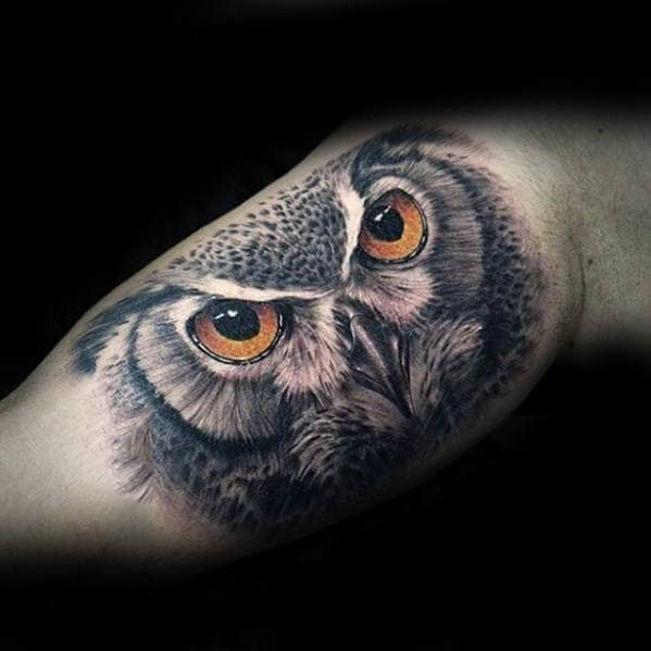 3d Cool Guys Realistic Inner Arm Bicep Tattoo Inspiration