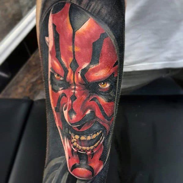 3d Darth Maul Male Tattoos Forearm Sleeve