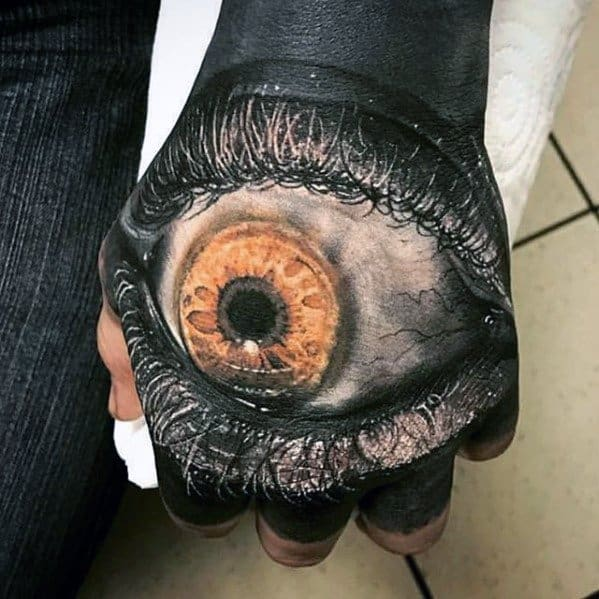 3d Eye Unique Hand Realistic Tattoos For Men