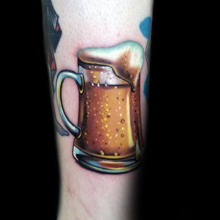 3d Forearm Male Cool Beer Tattoo Ideas