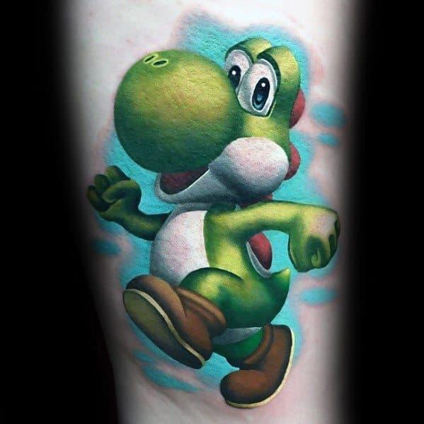 3d Forearm Yoshi Mens Tattoo Designs