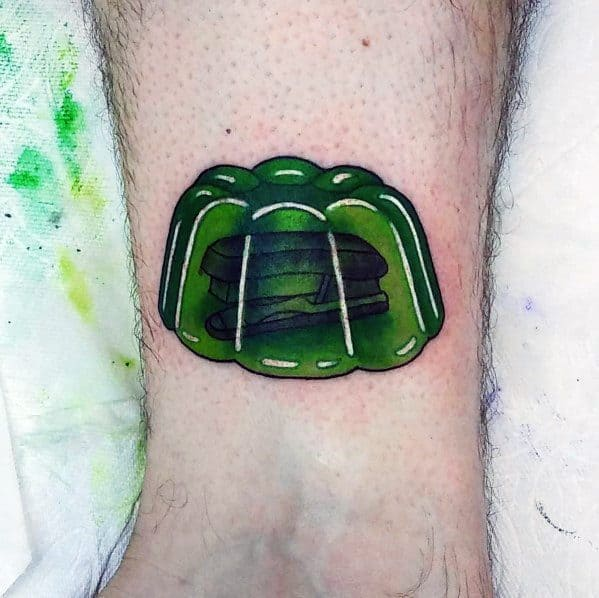 3d Green Jello The Office Tattoo On Man