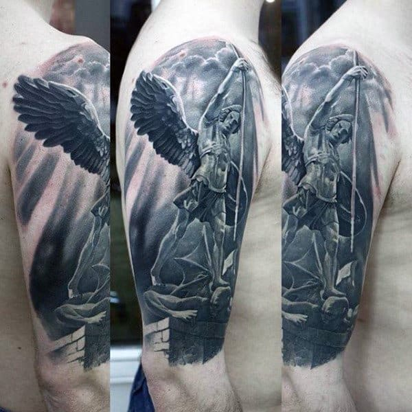 100 Guardian Angel Tattoos For Men Spiritual Ink Designs
