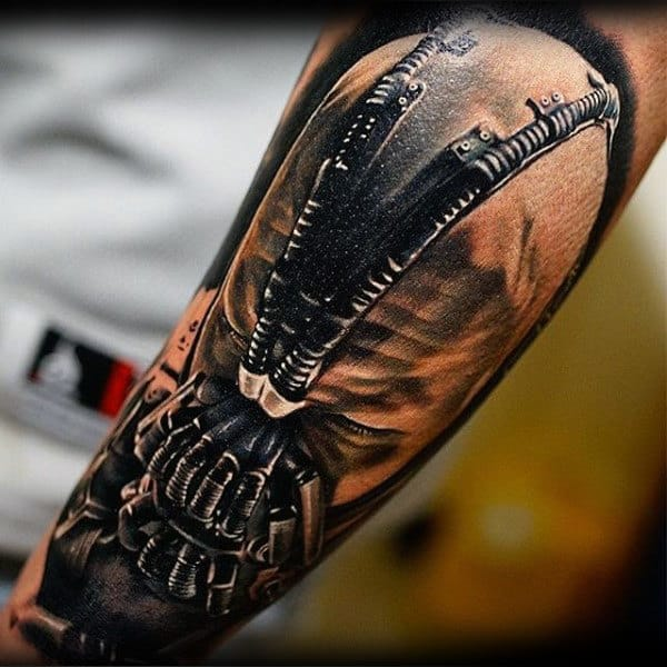 3d Guys Bane Arm Tattoo Designs
