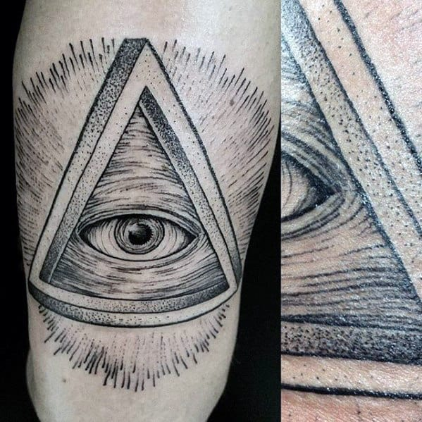3d Guys Eye Of Providence Forearm Tattoo Designs