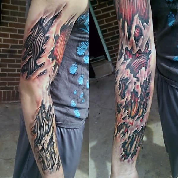 3d Guys Muscle Arm Tattoos