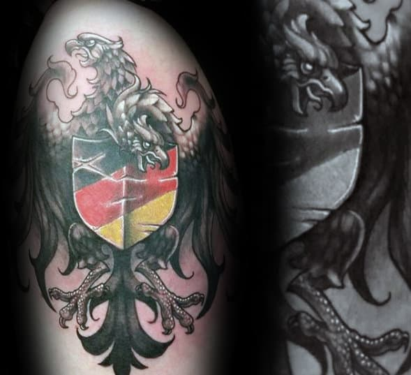 3d Guys Unique German Eagle Tattoo Designs On Arm