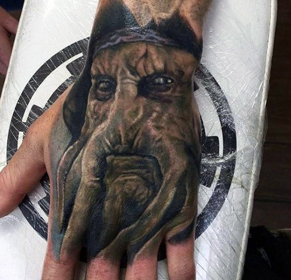 3d Hand Guys Davy Jones Tattoos
