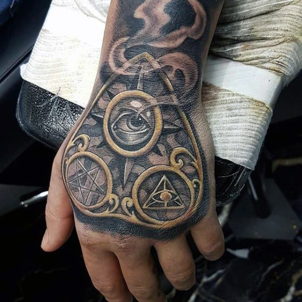 3d Hand Planchette Male Tattoos