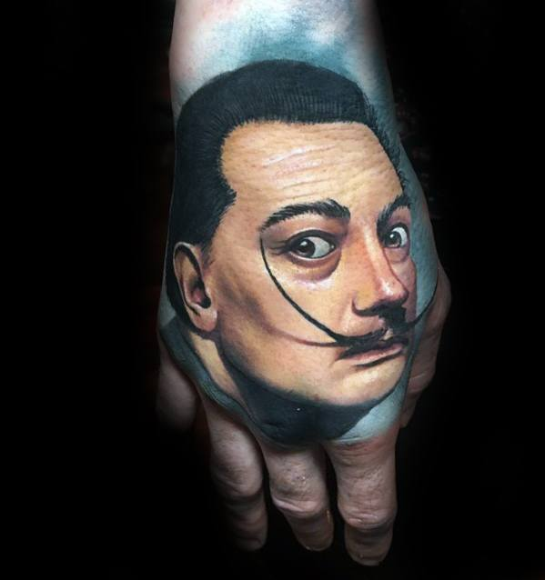 3d Hand Portrait Tattoo Ideas For Males