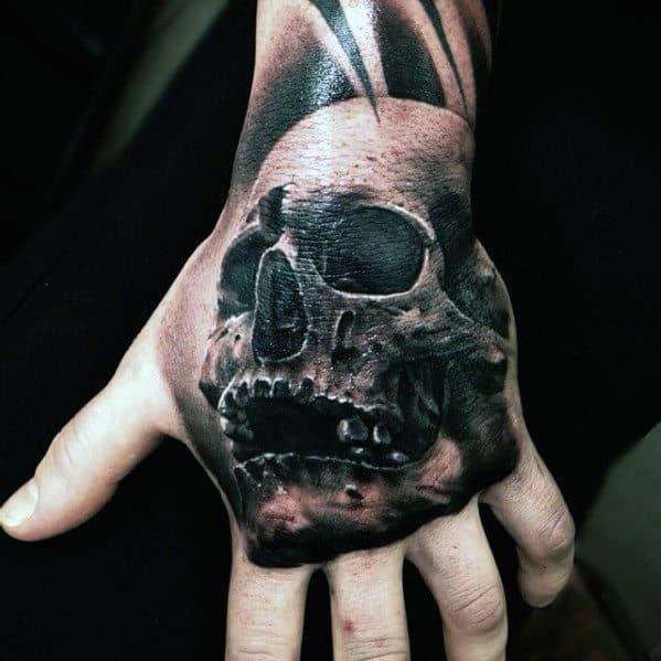 3d Hand Skull Guys Tattoo Inspiration