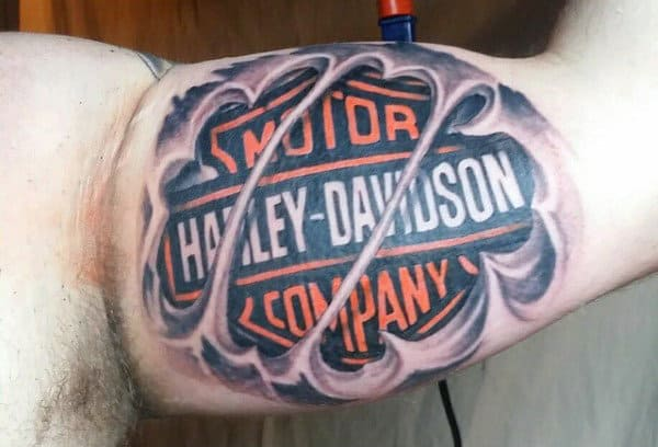90 Harley Davidson Tattoos For - Manly Motorcycle Designs