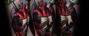 40 3D Heart Tattoo Ideas For Men – Three Dimensional Designs